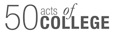 50 Acts of College logo