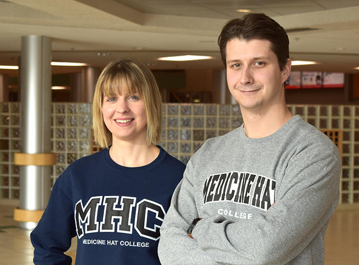 MHC student recruiters: Alison Pfeifer and Landon Heilman