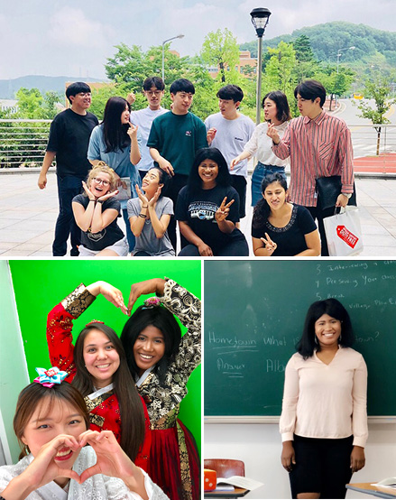 Photos of MHC student Hawa Kamara traveling and teaching in South Korea on an education abroad trip.