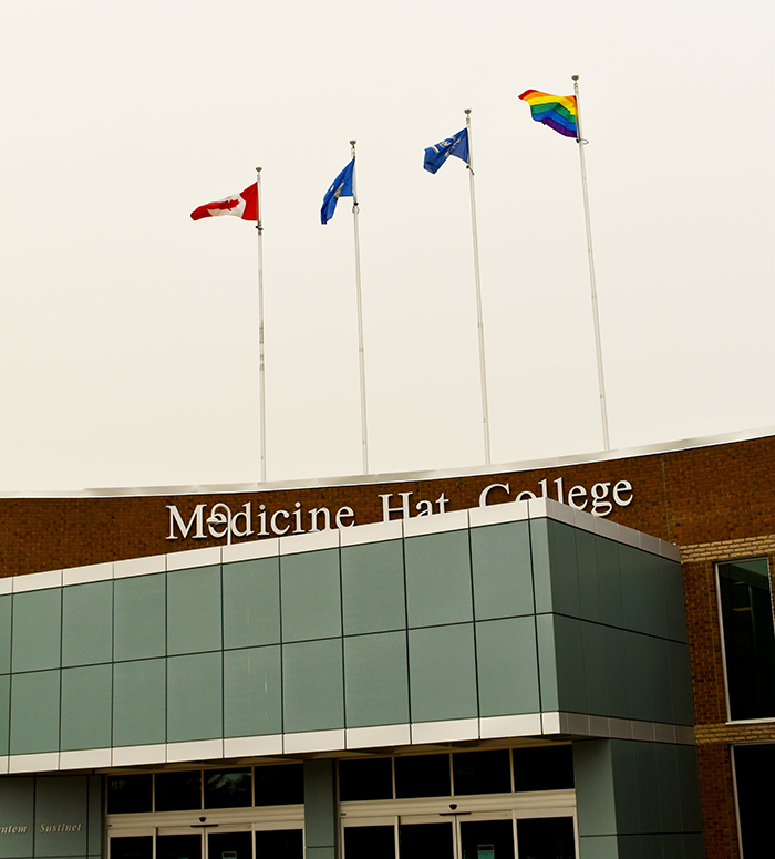 MHC raises Pride flag