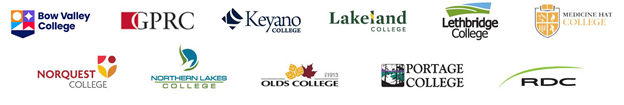 Logos of Alberta's 11 Comprehensive Community Colleges