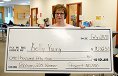 Project 5050 winner Kelly Young