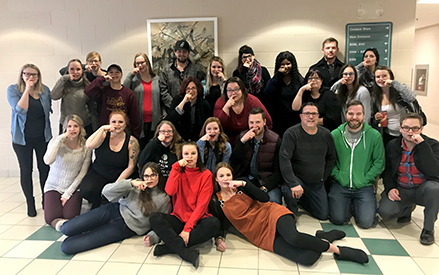 MHC education students support Movember campaign